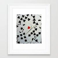 poker Framed Art Prints featuring Poker by Jackie