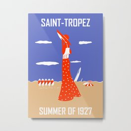 Saint Tropez Summer of 1927 Metal Print
