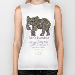 Elephant are Beautiful Biker Tank