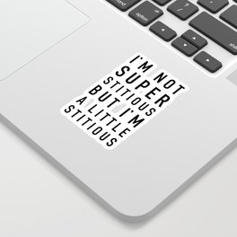 Superstitious - the Office Sticker