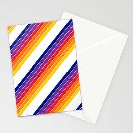 Rainbow Candy Stripe Stationery Cards