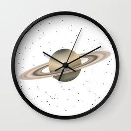 Planet Satrun Wall Clock
