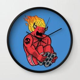 Satan Rollin' Wall Clock