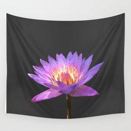 Purple Lotus Flower Geometric style Wall Tapestry