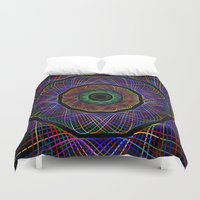 psychedelic Duvet Covers featuring psychedelic by artlife
