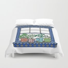 Window Garden Duvet Cover