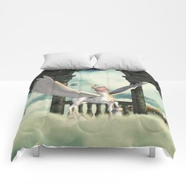 Cute little pegasus Comforters