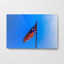 Malaysia Flag Metal Print