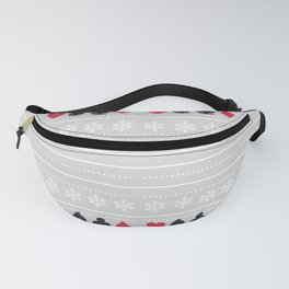 cards and snowflakes Fanny Pack