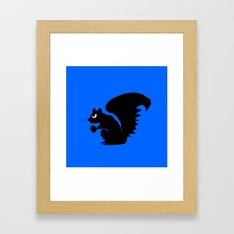 Angry Animals: Squirrel Framed Art Print