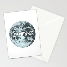 I AM WITH HER Stationery Cards