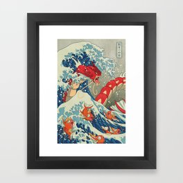 The Great Red Wave Framed Art Print