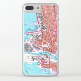 Vintage Map of Oakland California (1959) Clear iPhone Case