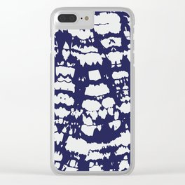 Discharged Fabric Pattern #1 Clear iPhone Case