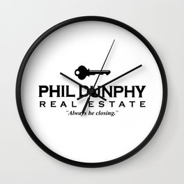 phil dunphy real estate Wall Clock
