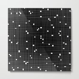 Black and White Grid - Missing Pieces Metal Print