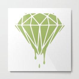 ART PRINT MINI Heart Diamond Metal Print
