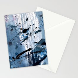 Breathe [6]: colorful abstract in black, blue, purple, gold and white Stationery Cards