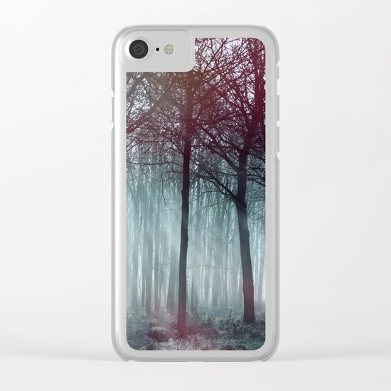 Mysterious Forest Clear iPhone Case