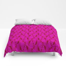 Pink Ruffle Twist Abstract Design Comforters