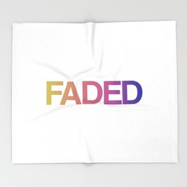 Faded Throw Blanket
