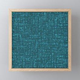 Fibre Mesh Pattern (Teal Green) Framed Mini Art Print