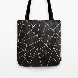 Velvet Black & Rose Gold Tote Bag