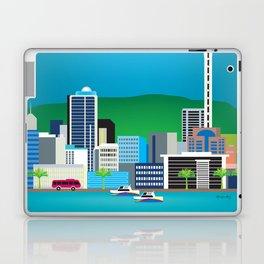 Auckland, New Zealand - Skyline Illustration by Loose Petals Laptop & iPad Skin