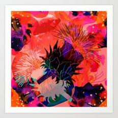 Floral constellation Art Print
