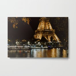 Eiffel Tower at Night 5 Metal Print