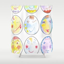 It's an eggcellent life!!! Shower Curtain