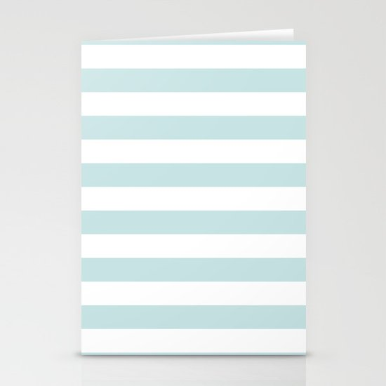 Ocean Blue Nautical Stripes Artsy Vintage Stationery Cards