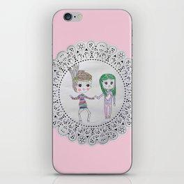 Cute couples iPhone Skin