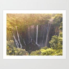 Tumpak Sewu Waterfall Art Print