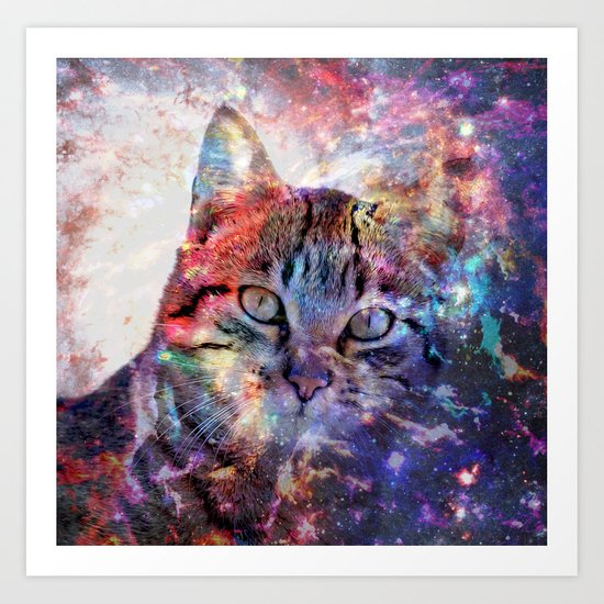 SpaceCat Art Print