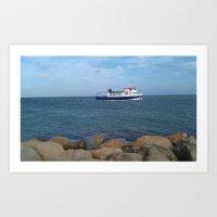 Lonely Ferry Art Print