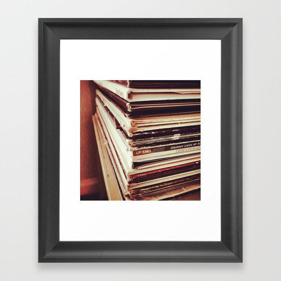 Vinyl Killed the iPod Framed Art Print