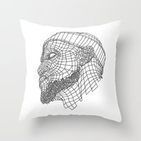 lebron Throw Pillows featuring Basketball King by NEW YORK GORILLUST