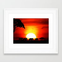 africa Framed Art Prints featuring Africa by Selina Morgan