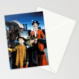 Alien in Mary Poppins Stationery Cards