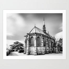 Cemetry Chapel Art Print