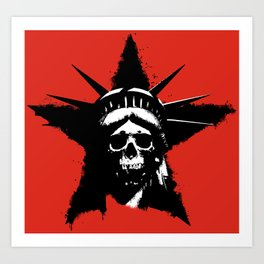 Statue of Liberty Skull Art Print