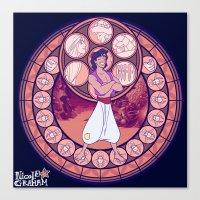 aladdin Canvas Prints featuring Aladdin by NicoleGrahamART