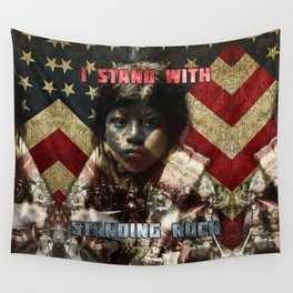 I Stand With Standing Rock Wall Tapestry