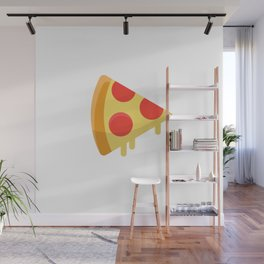 Pizza sticker. Fun cartoon mood. Wall Mural