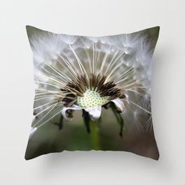 Dandelion Weed Seed Throw Pillow