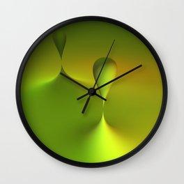 green geometry Wall Clock