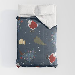 the birds decorate for Christmas pattern Comforters