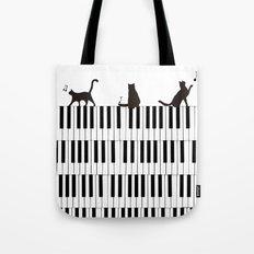 Piano Cat Tote Bag