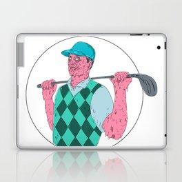 Golfer Golf Club Circle Grime Art Laptop & iPad Skin
